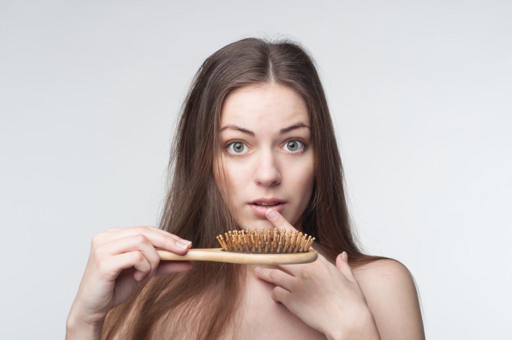 Hair loss woman shocked