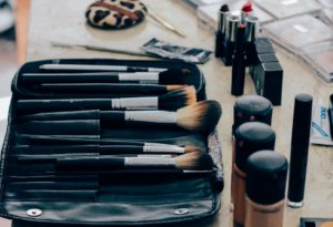 Perfect Makeup brushes on the table