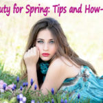beauty for spring woman looking on