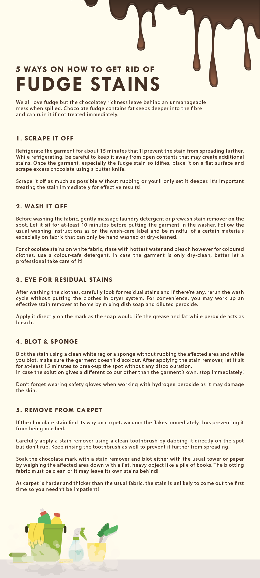 get rid of fudge stains infographics