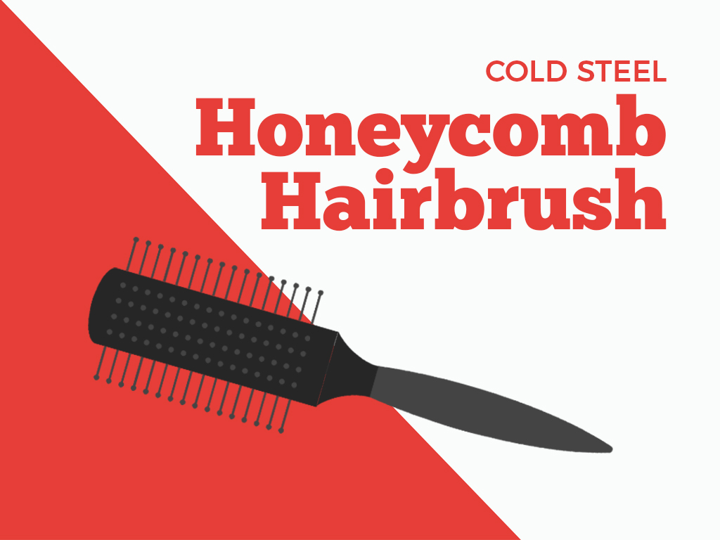Posh honeycomb hairbrush