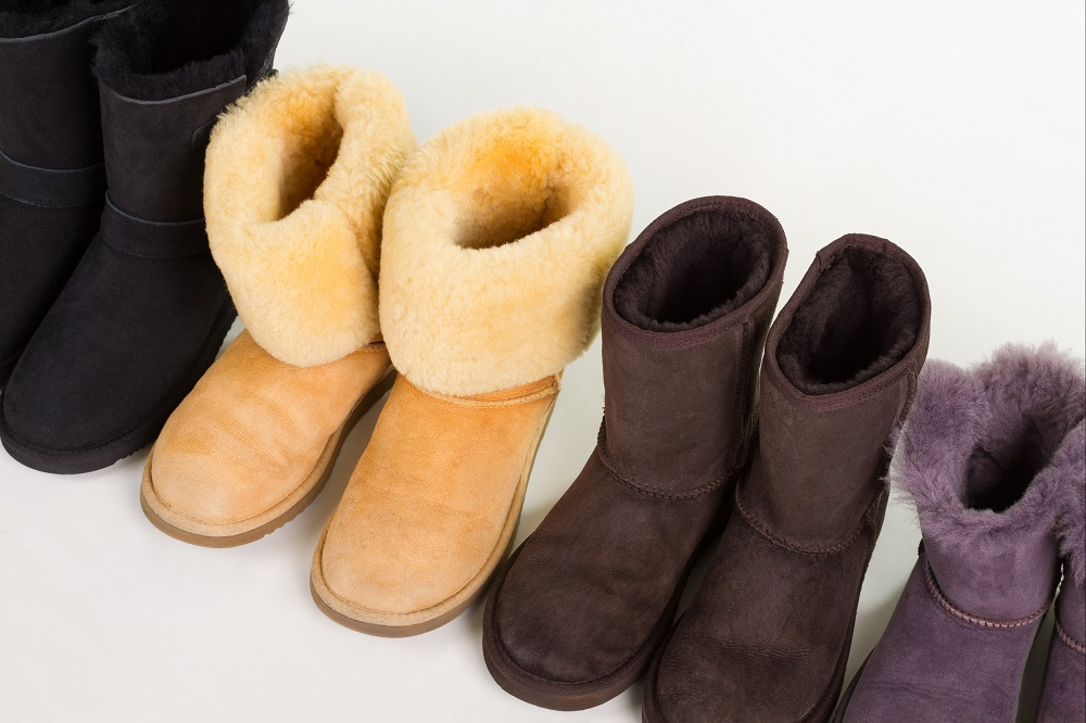 Ugg Boots in row
