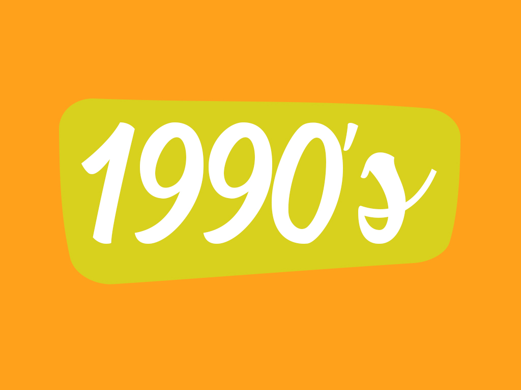 Footwear in 1990 decade