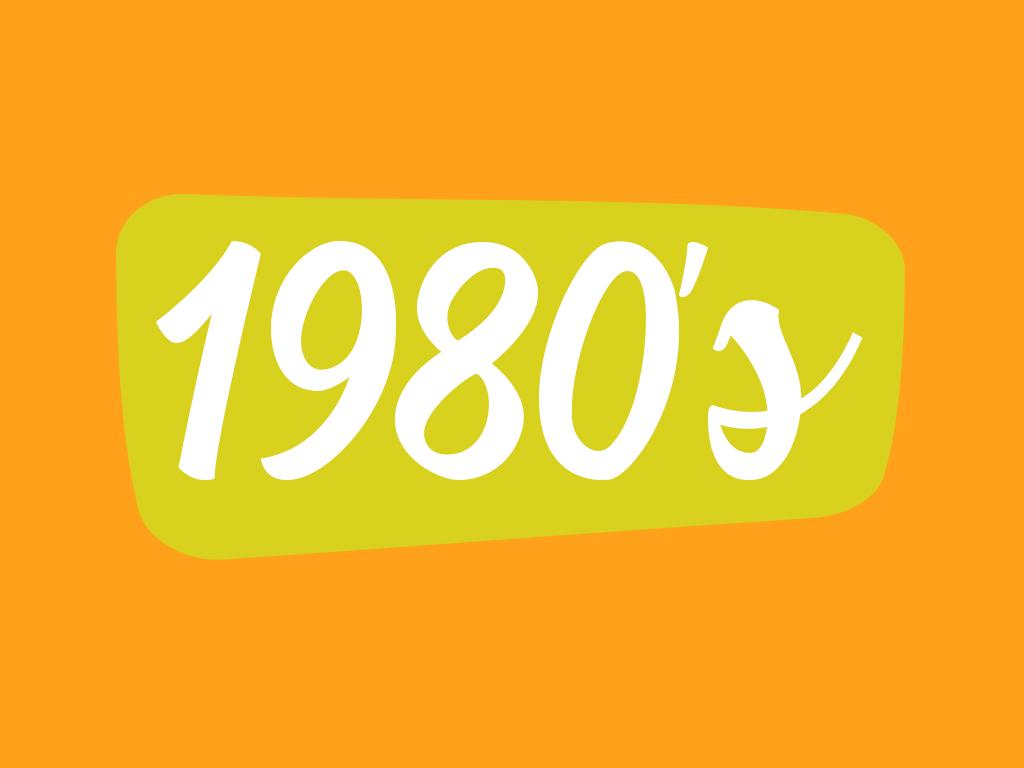 Footwear in 1980 decade