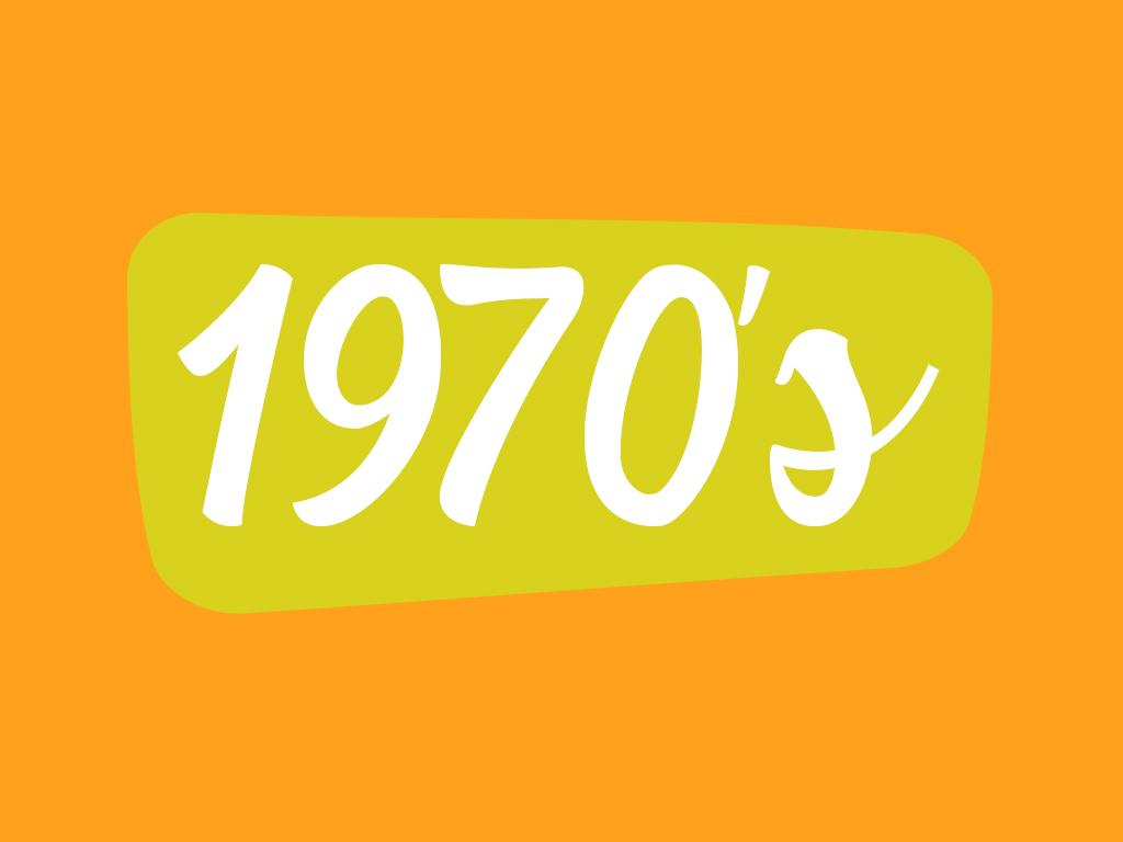 Footwear in 1970 decade