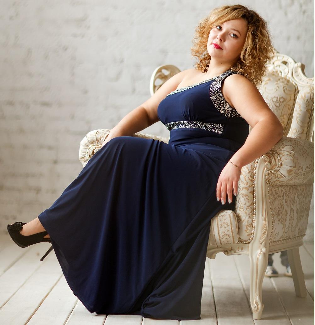 Plus Size Dresses For Women navy blue gown