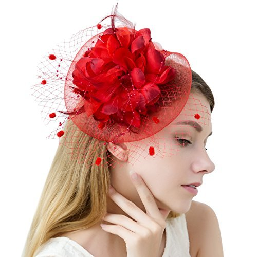 Dramatic Red Fascinator Varieties