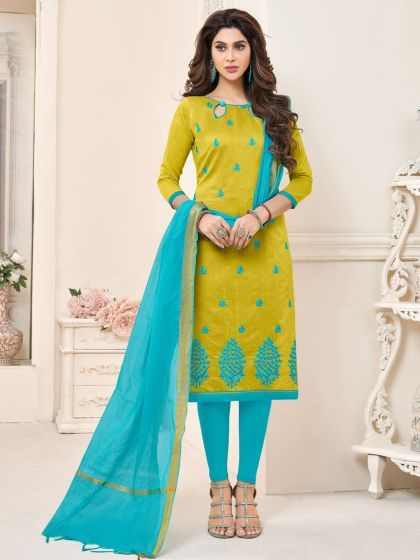Salwar - The Face of Indian Fashion in Abroad blue