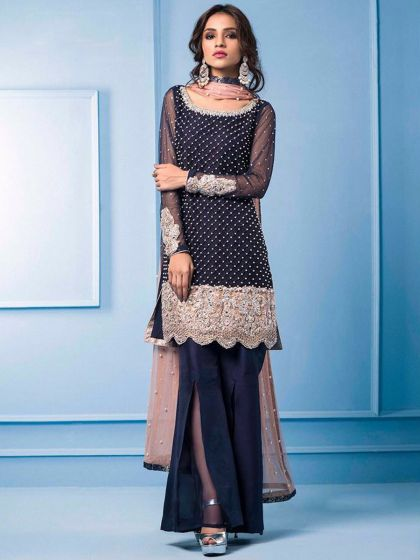 Salwar - The Face of Indian Fashion in Abroad black blue