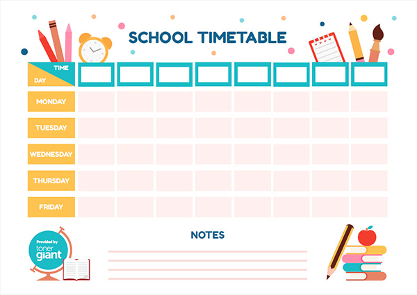 high school time table 2020